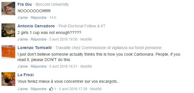 commentaires pasta carbonara