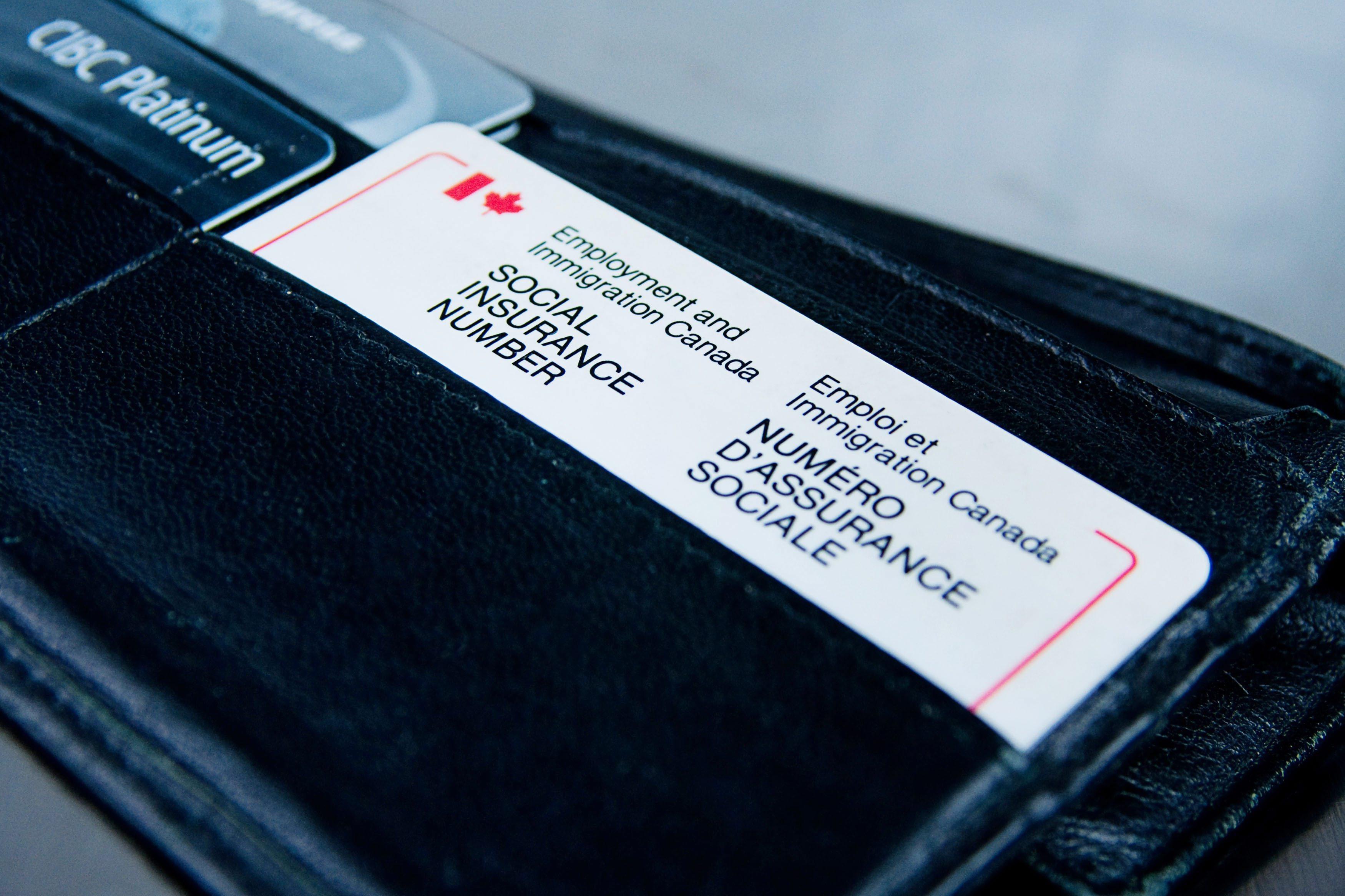 social insurance number card
