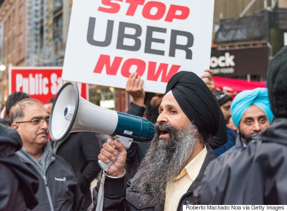 uber protest toronto