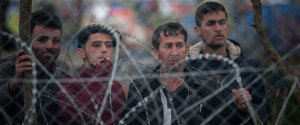 refugees barbed wire