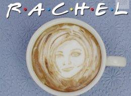 Les acteurs de <em>Friends</em> en <em>art latte</em>