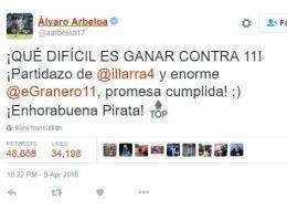Arbeloa y Piqué se enzarzan en Twitter y acaban discutiendo sobre ortografía