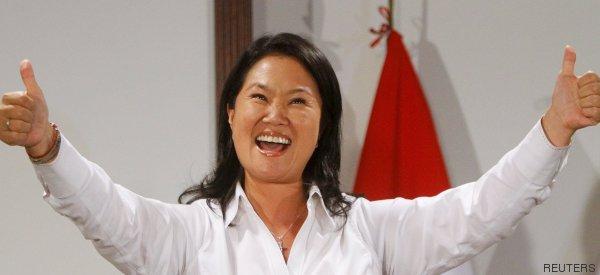 Keiko Fujimori gana la primera vuelta de las elecciones en Perú