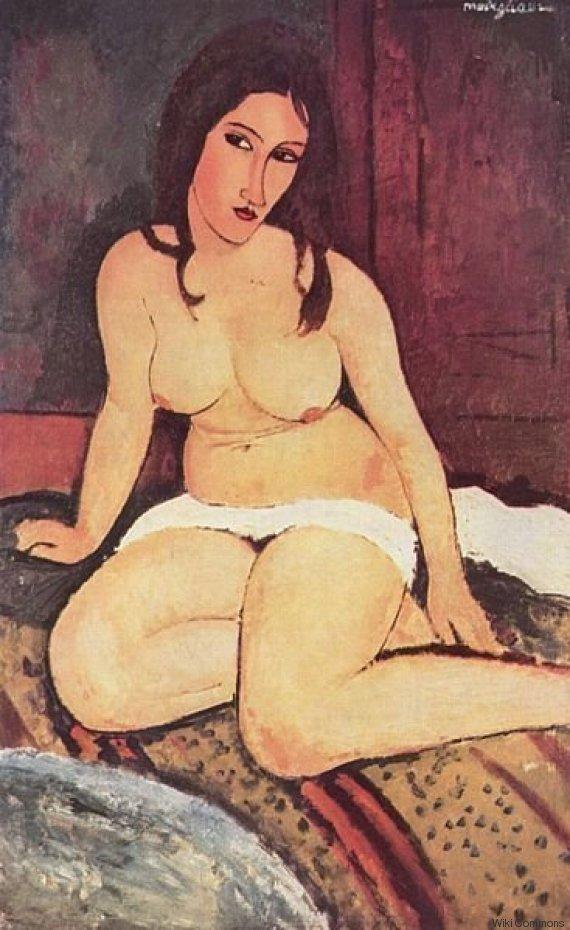 modigliani desnudo sentado