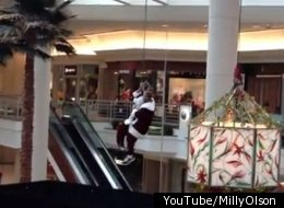 Santa Stuck On Rope