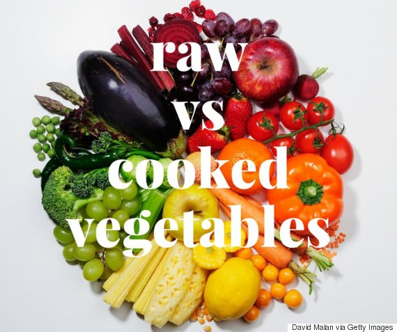 raw vs cooked veggies