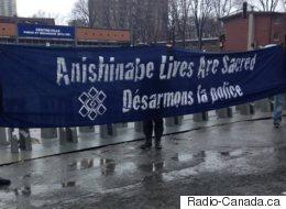 La manifestation à Montréal contre l'intervention policière au Lac-Simon dégénère