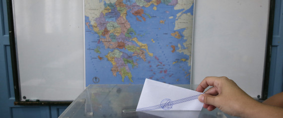 VOTING MAP GREECE