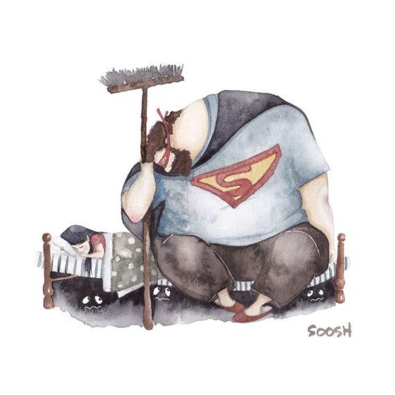 padre hija superman