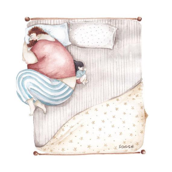 padre hija cama