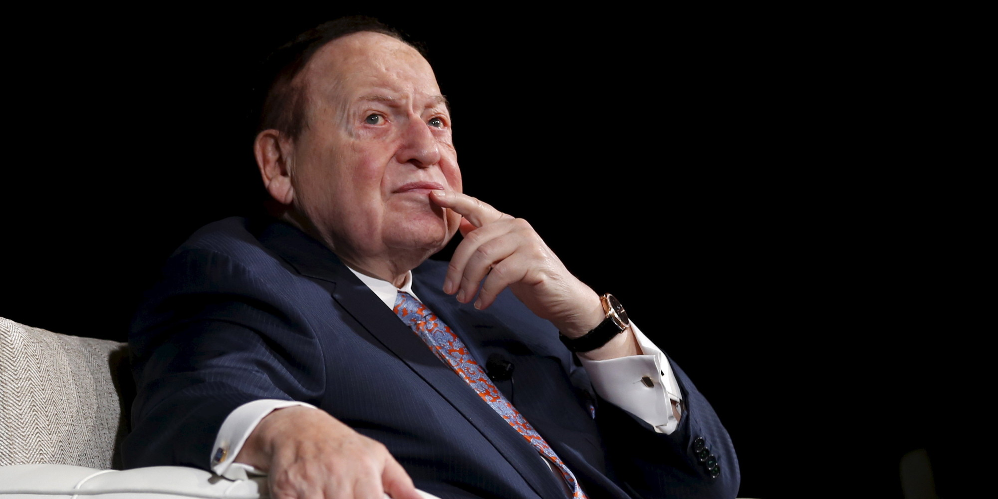 rich want sheldon adelson tyrone huffpost macau reacts gambling sands corp executive chief vegas conference giant las china during patterson