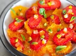 Vite fait, bien fait: fraises à l'orange et aux pistaches