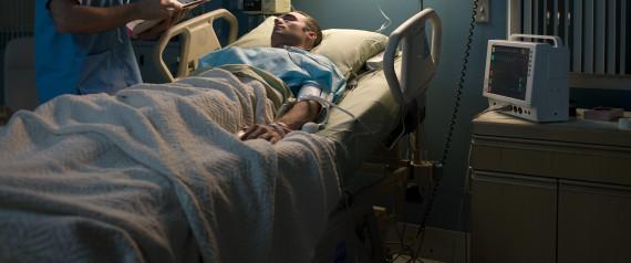 LYING HOSPITAL BED