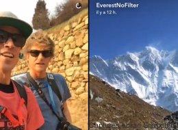 Ils vont utiliser Snapchat... sur l'Everest (VIDÉO)