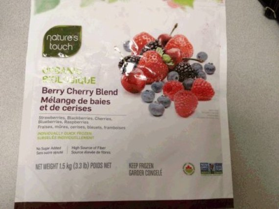 natures touch frozen berry recall
