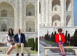 William et Kate rendent hommage à Diana au Taj Mahal (PHOTOS)