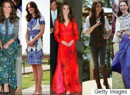 All The Looks From The Duchess Of Cambridge's India And Bhutan Tour