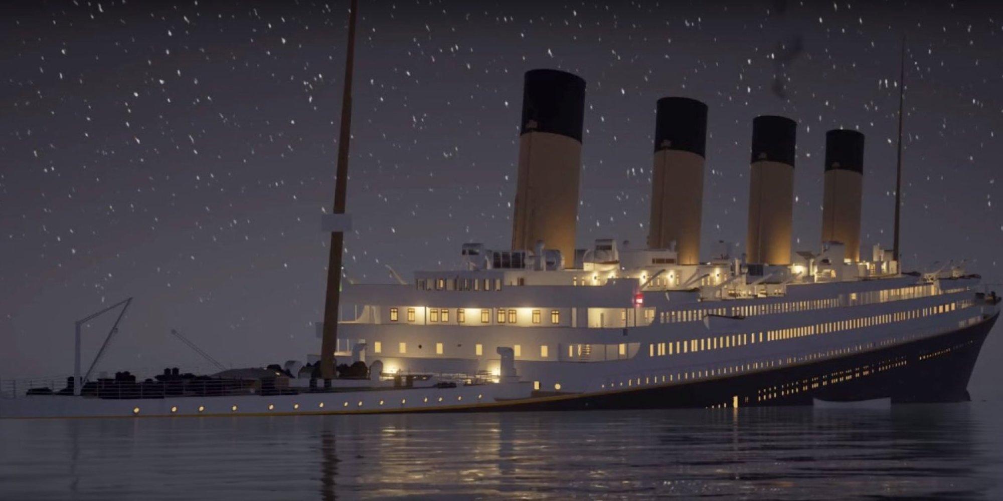 Regardez le naufrage du titanic en temps r el avec cette reconstitution 3d v - Groupe de securite qui coule ...