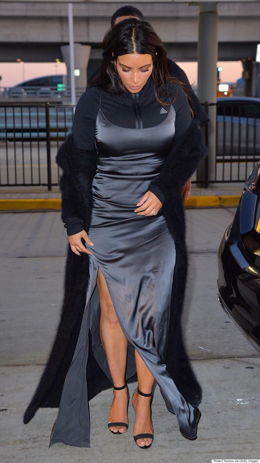 Kim k black dress jackets