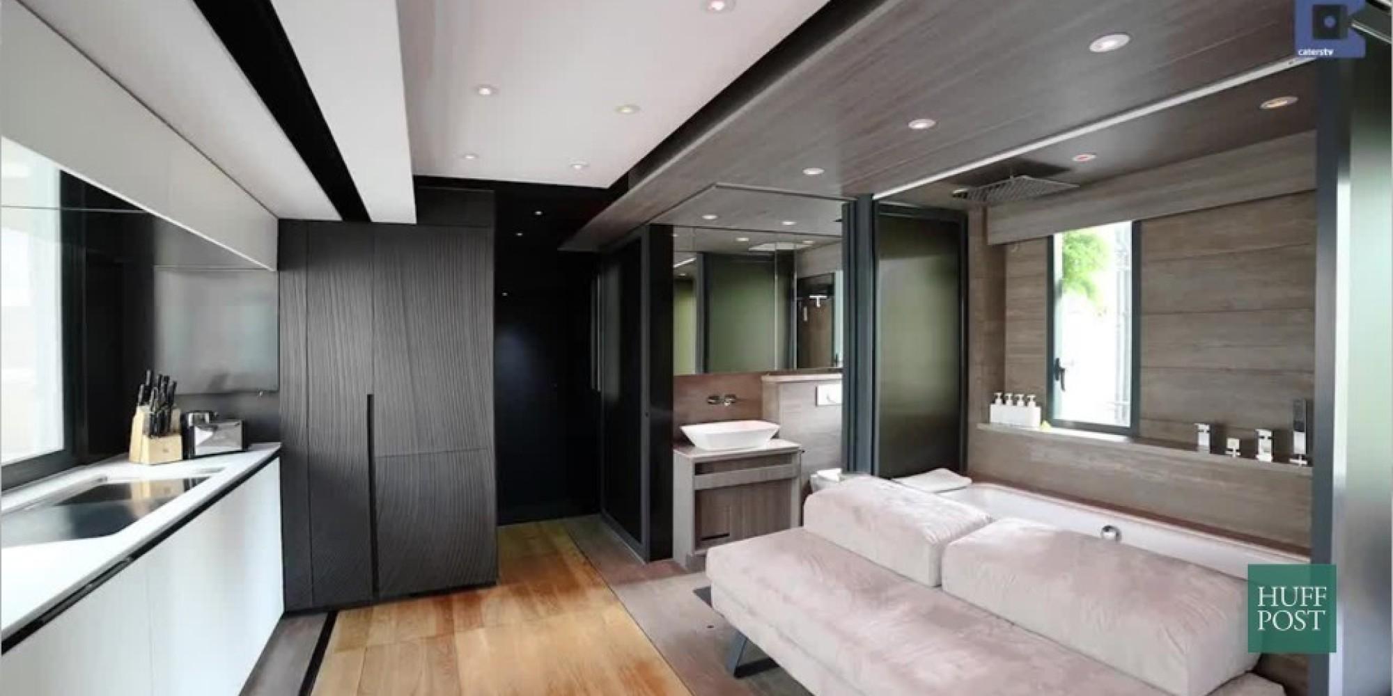 diese wohnung ist kleiner als 6 quadratmeter doch drinnen wartet der pure luxus. Black Bedroom Furniture Sets. Home Design Ideas