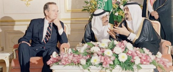 KING FAHD WITH US PRESIDENT