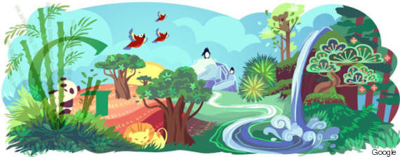 earth day google doodle 2011