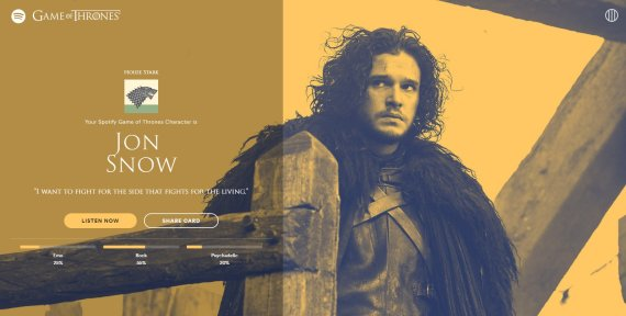 jon snow spotify