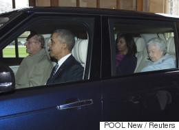 Les Obama conduits par... le prince Philip