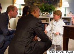 No Big Deal, Prince George Just Met Obama While Wearing Pyjamas