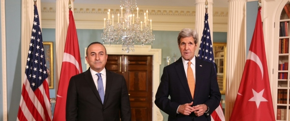 TURKISH FOREIGN MINISTER AND JOHN KERRY