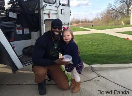 Cette petite fille a fait une surprise à son «éboueur préféré»