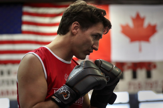 justin trudeau brooklyn boxing