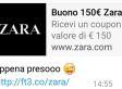 I buoni acquisto di Zara via WhatsApp sono una bufala