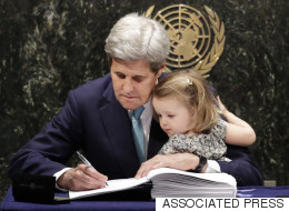 John Kerry's Granddaughter Was The Cutest Addition To The Paris Climate Summit