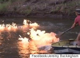 Australian Politician Lights River On Fire To Protest Fracking