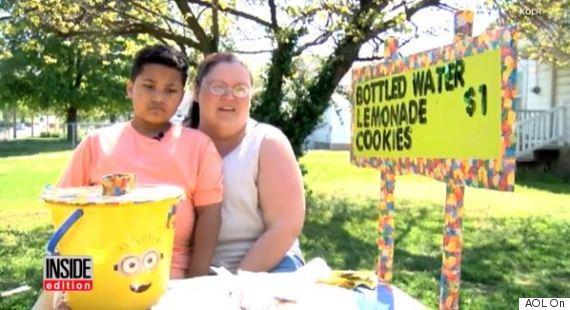 boy lemonade stand
