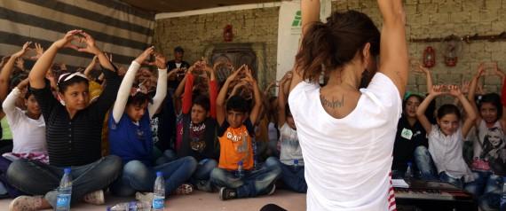 SYRIAN REFUGEES YOGA