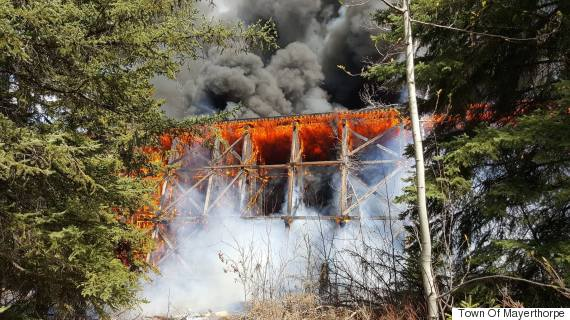 mayerthorpe bridge fire