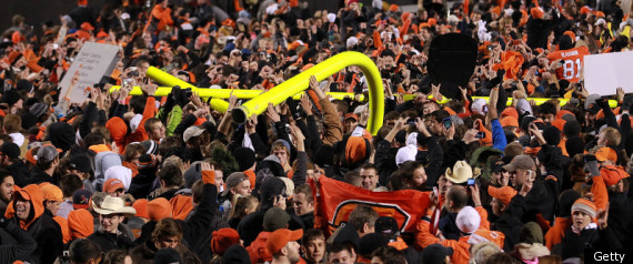 Oklahoma State Fans Injured Bedlam