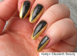 This Easy Metallic Nail Art Is Perfect For Beginners