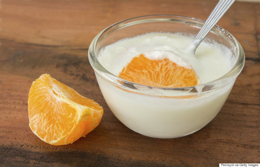 orange yogurt dip