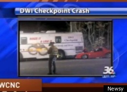Man Crashes Dwi Checkpoint