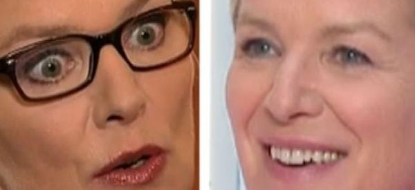 Les deux visages d'Elise Lucet qui présentait son dernier 13h