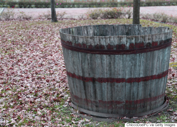 wooden tub old