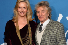 Penny Lancaster and Rod Stewart | Pic: Matt Crossick