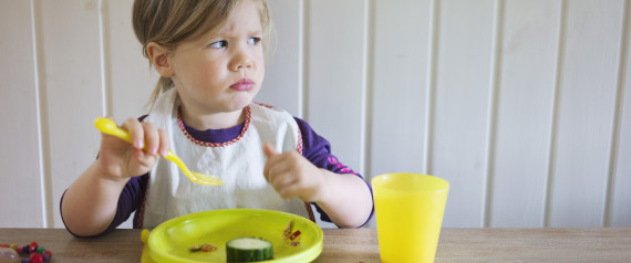 GIRL EATING ANGRY