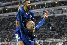 Mahrez and Vardy | Pic: Reuters