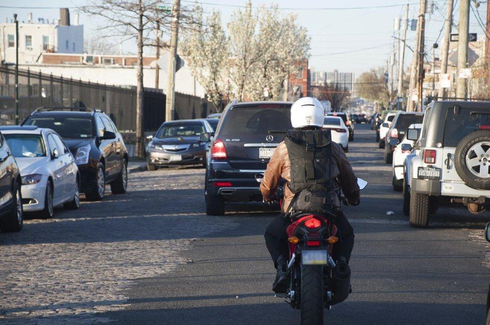 motorcycle behind