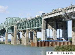 Le pont Champlain fermé vers Montréal