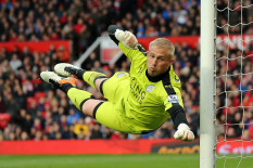 Kaspar Schmeichel makes a save at Old Trafford | Pic: Getty